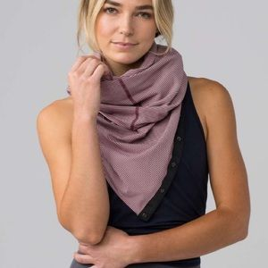 Lululemon Vinyasa Scarf Tonka Stripe Red Grape